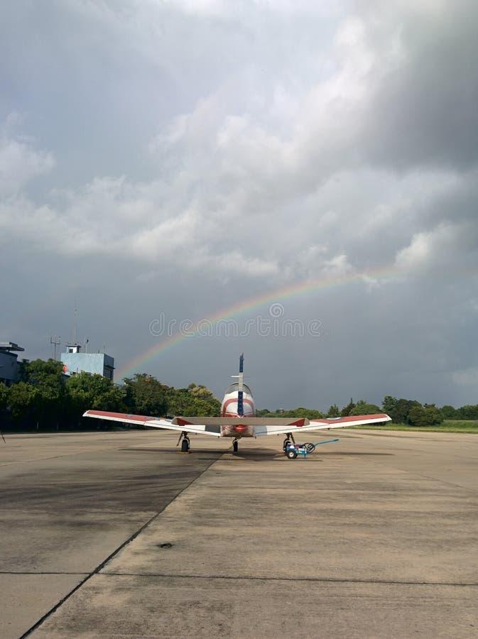 T-35 Pillan e un arcobaleno fotografia stock libera da diritti