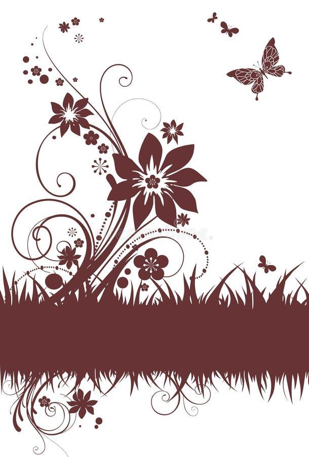 Download Tła prosty kwiecisty ilustracja wektor. Ilustracja złożonej z nowożytny - 13341068