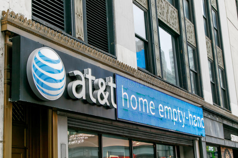 AT&T retail store stock photography