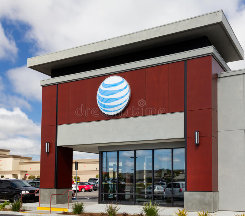AT&T retail store royalty free stock images