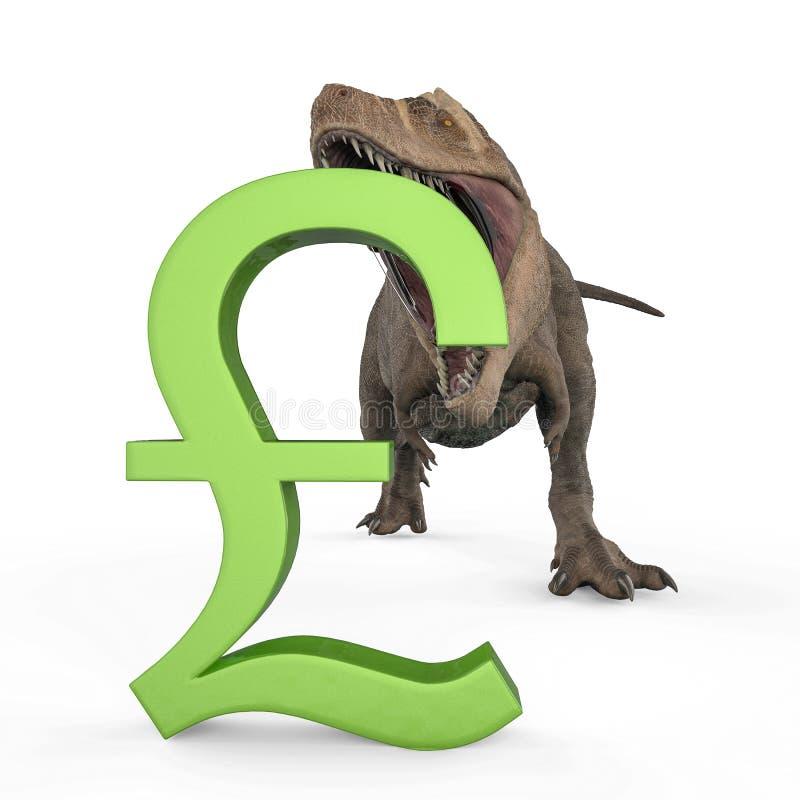 T-rex в белой предпосылке бесплатная иллюстрация