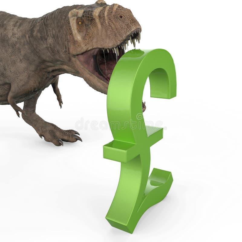 T-rex в белой предпосылке иллюстрация вектора