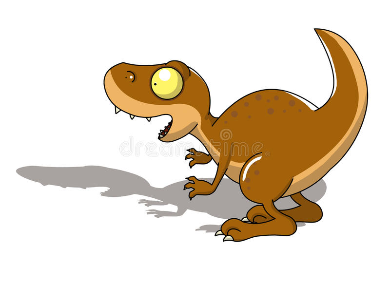 Download T-rex dinosaur stock illustration. Image of ancient, comic - 14245185