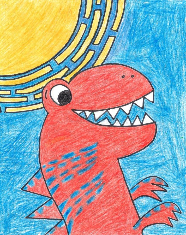 T-Rex Dinosaur stock illustrationer