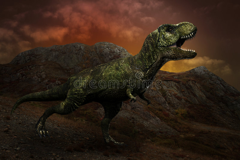 T-rex dinosaur royalty free stock photos