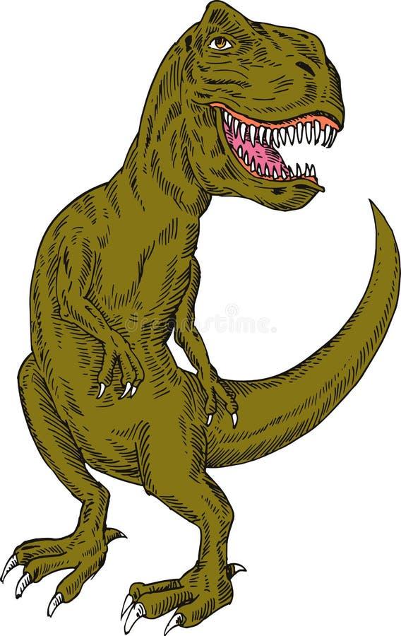 Download T-rex dinosaur stock illustration. Illustration of prehistoric - 6897260