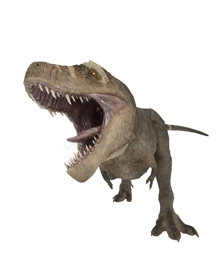 T-Rex Dinosaur Attacking stock image