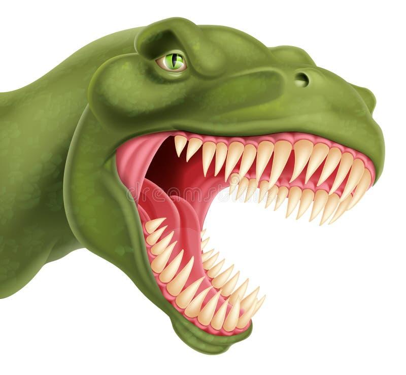 T Rex Dinosaur Head vektor illustrationer