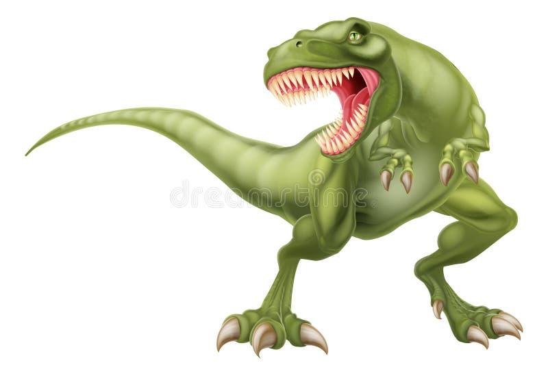 T Rex Dinosaur Illustration. An illustration of a mean looking tyrannosaurs rex t rex dinosaur vector illustration