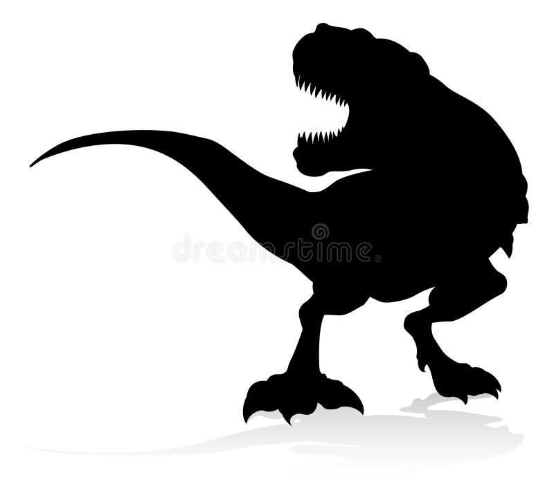 T Rex Dinosaur Silhouette ilustración del vector