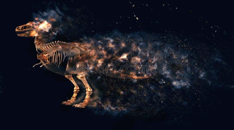 T-Rex dinosaura kościec Łama Up zdjęcia stock