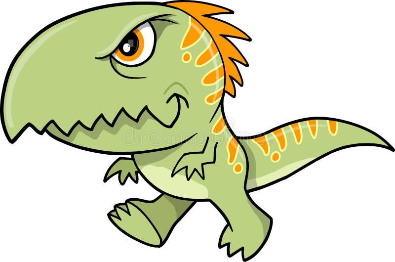 T-Rex Dinosaurier-vektorabbildung stock abbildung