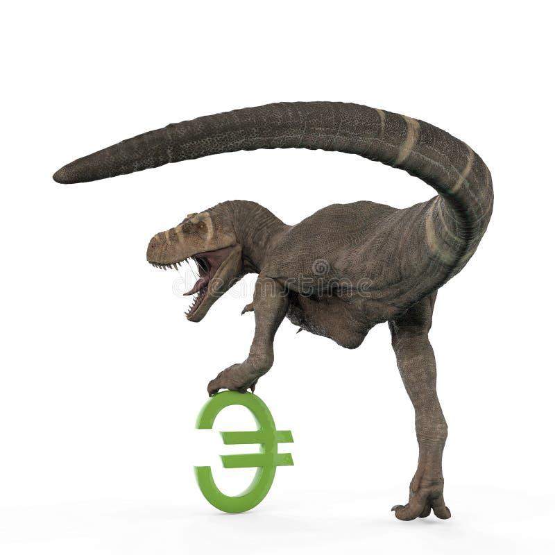 T-rex en el fondo blanco libre illustration