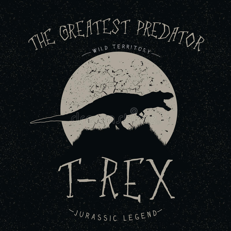 Free T-Rex Growls At The Moon Royalty Free Stock Image - 71363146