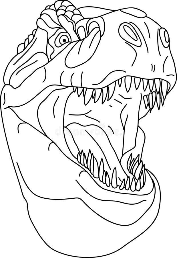 Download T-rex head stock vector. Image of dinosaur, face, head - 9816061