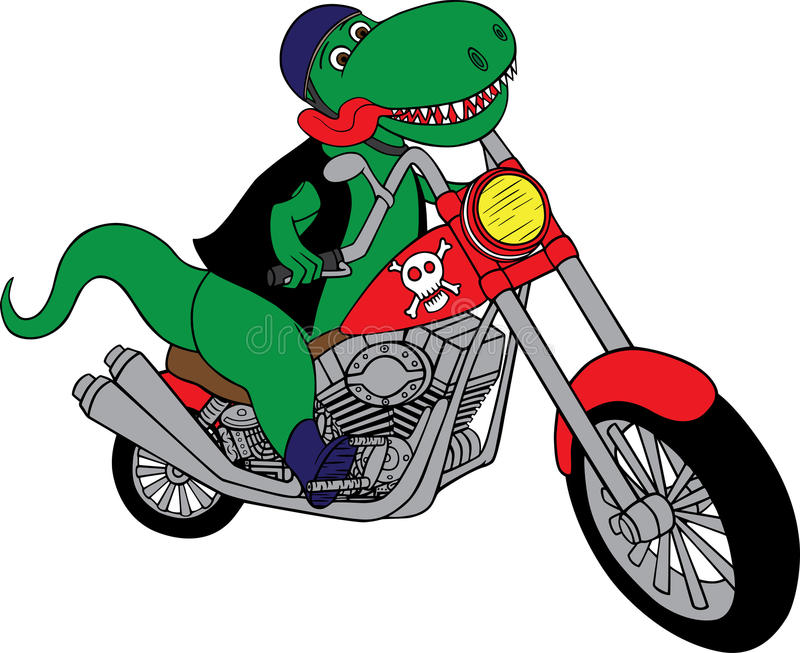 Download T-Rex on a motorcycle stock vector. Illustration of motorbikes - 24277963