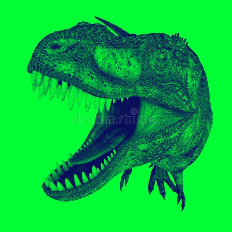 T-rex no duotone ilustração stock