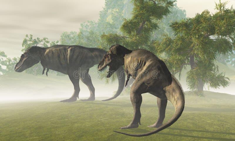 T-Rex pré-histórico ilustração royalty free
