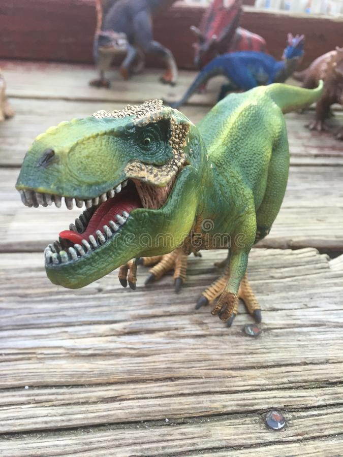 T Rex toy scary real life looking Scherlich German toy company stock image