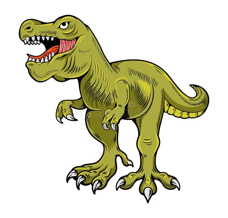T-REX Tyrannosaurus Rex - niebezpieczny dino ilustracji