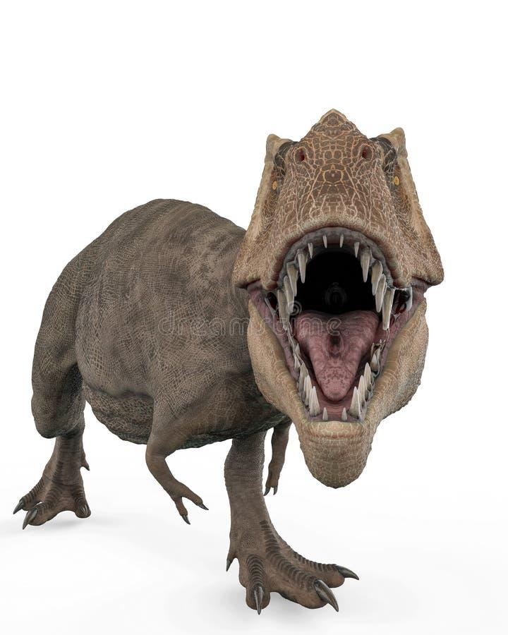 T-rex w białym tle royalty ilustracja