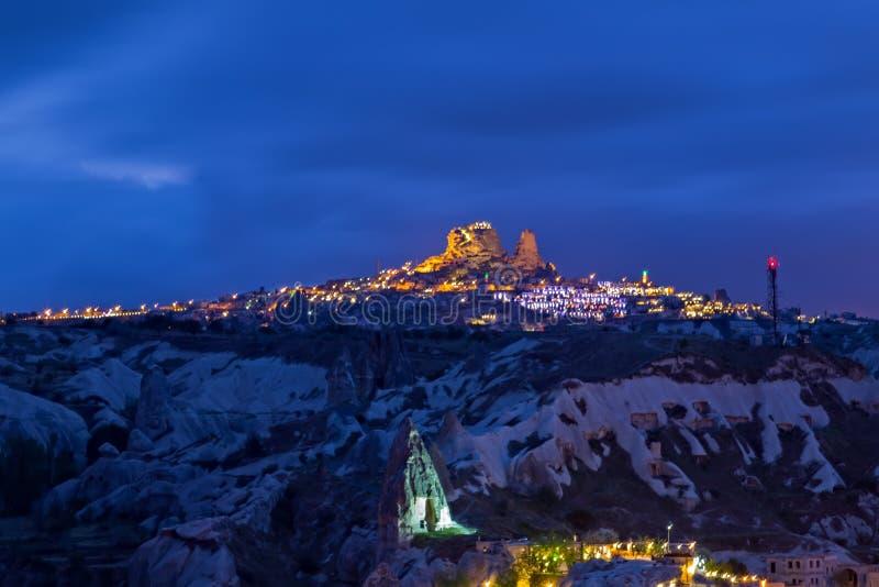 T?rkische Festung Uchisar, Landschaft in Cappadocia, die T?rkei lizenzfreie stockbilder