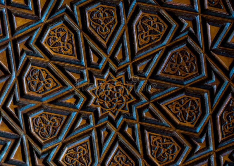 T?rkische Kunst der Osmane mit geometrischen Mustern stockbild