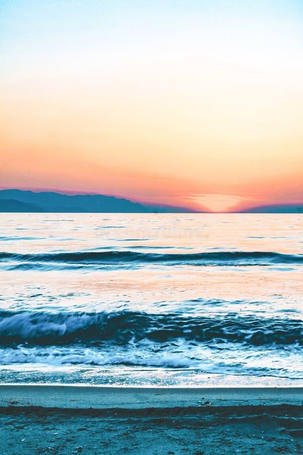 T?rkischer Sonnenuntergang lizenzfreies stockbild