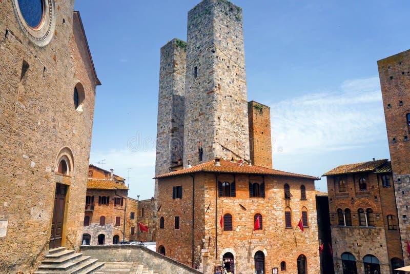 T?rme von San Gimignano stockfotografie