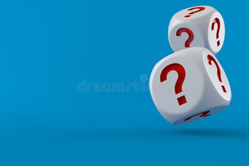 T?rningen med ifr?gas?tter markerar royaltyfri illustrationer