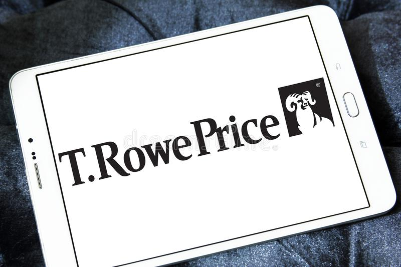 T. Rowe Price Group logo. Logo of T. Rowe Price Group on samsung tablet. T. Rowe Price Group, Inc. is an American publicly owned global asset management firm royalty free stock photography