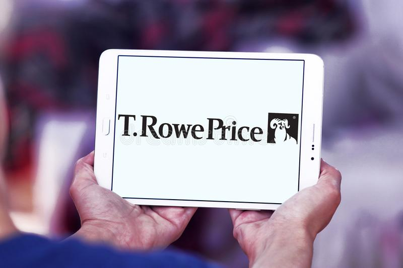 T. Rowe Price Group logo. Logo of T. Rowe Price Group on samsung tablet. T. Rowe Price Group, Inc. is an American publicly owned global asset management firm royalty free stock photo