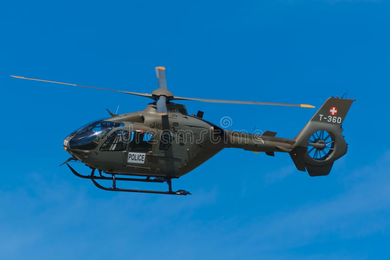 T-360 schweiziskt flygvapen Eurocopter EC635 P2/CN 0722 royaltyfri fotografi