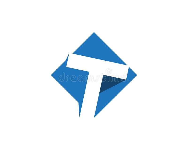 T segna il logos con lettere illustrazione vettoriale
