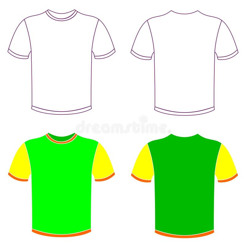 T-shirt _0001 royalty-vrije illustratie