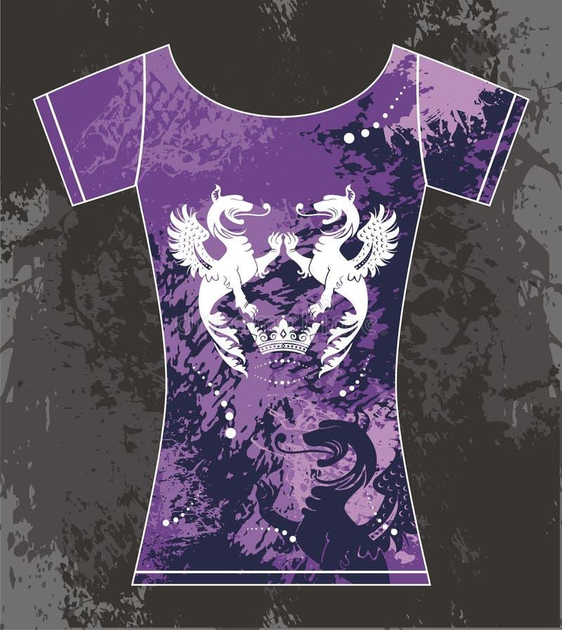 T-shirt royalty free illustration