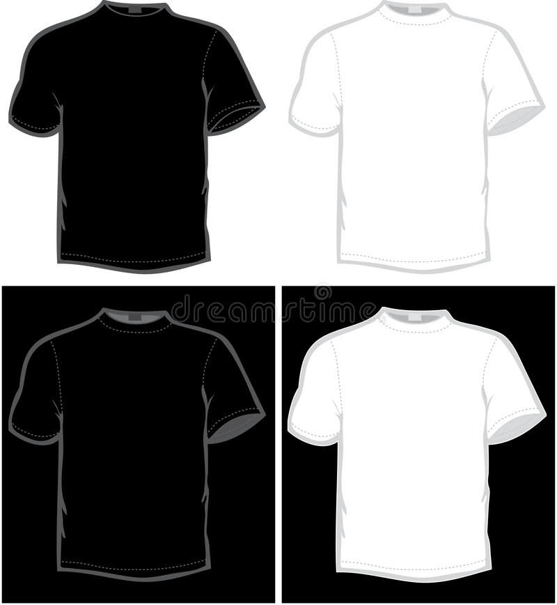 T-shirt. Vector T-shirt in black and white color