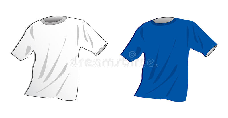 Download T-shirt stock vector. Illustration of draw, layout, lines - 9409308