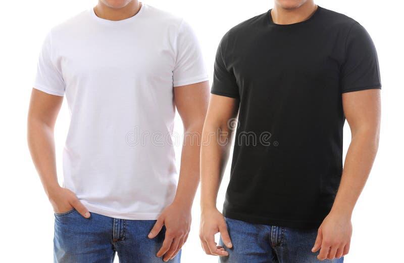 T-Shirt auf einem jungen Mann lizenzfreie stockbilder