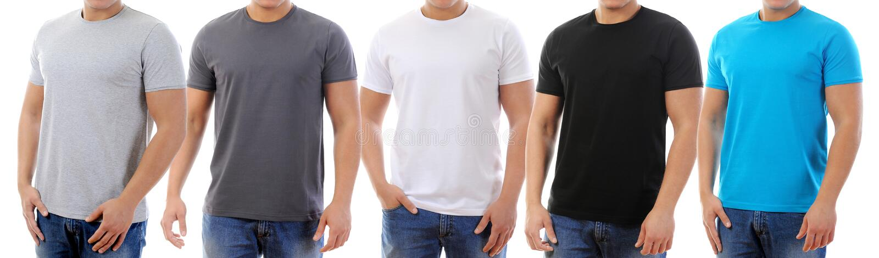 T-Shirt auf einem jungen Mann lizenzfreies stockfoto