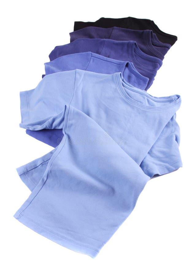 T-shirt azuis imagem de stock