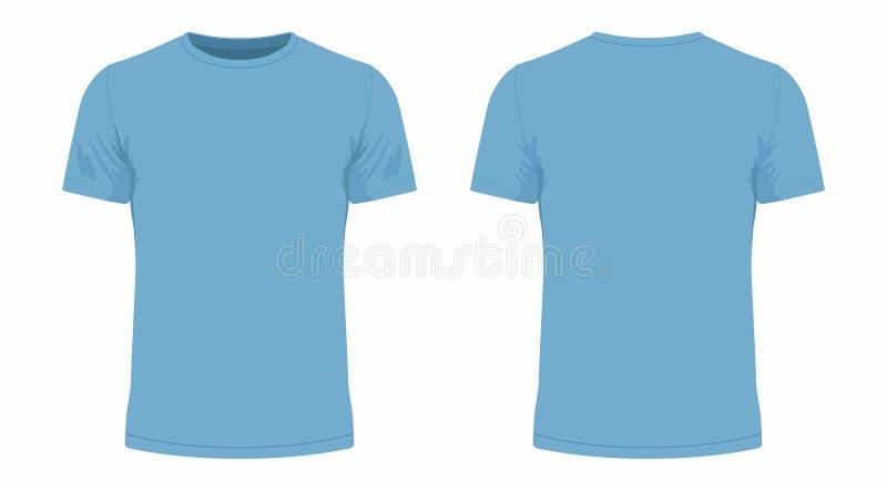 T-shirt azul ilustração stock