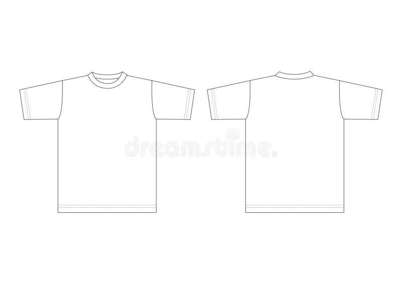 T-shirt blanc illustration libre de droits