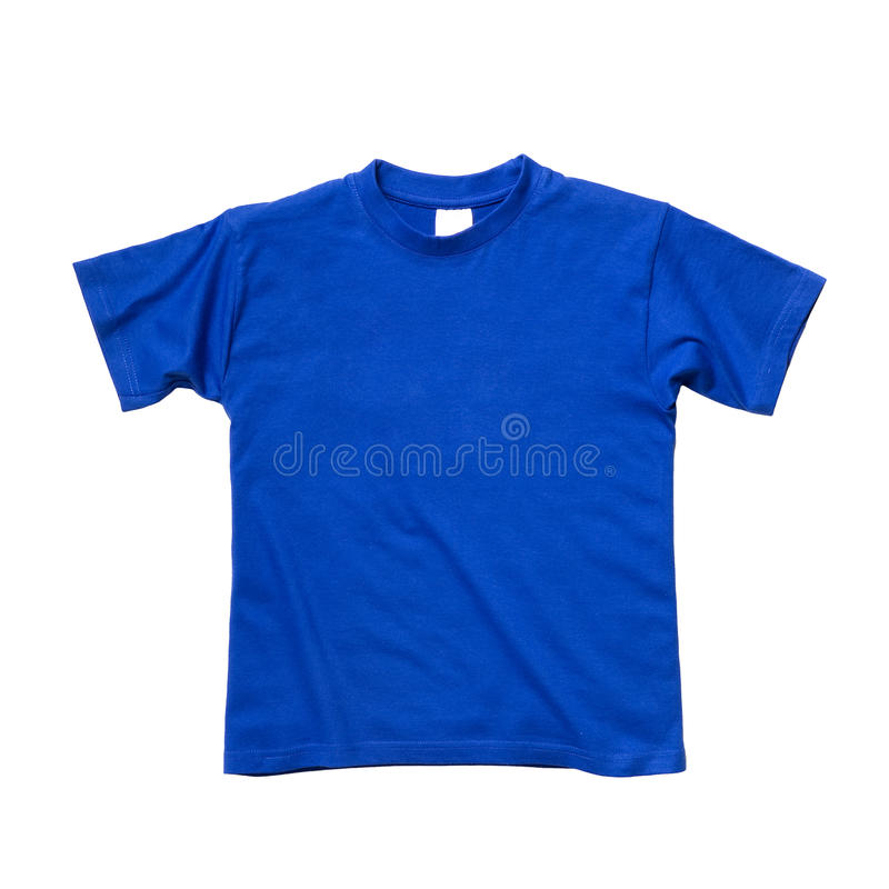 Free T Shirt Blue Flat Isolated On White Royalty Free Stock Images - 15362399