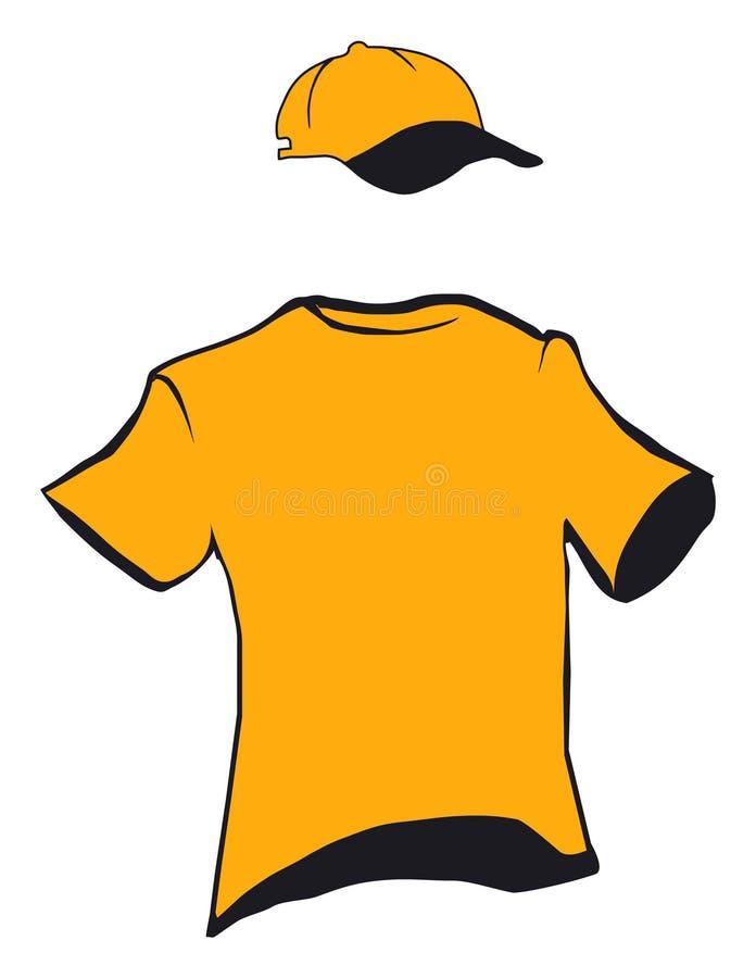 T-shirt and cap design stock illustration