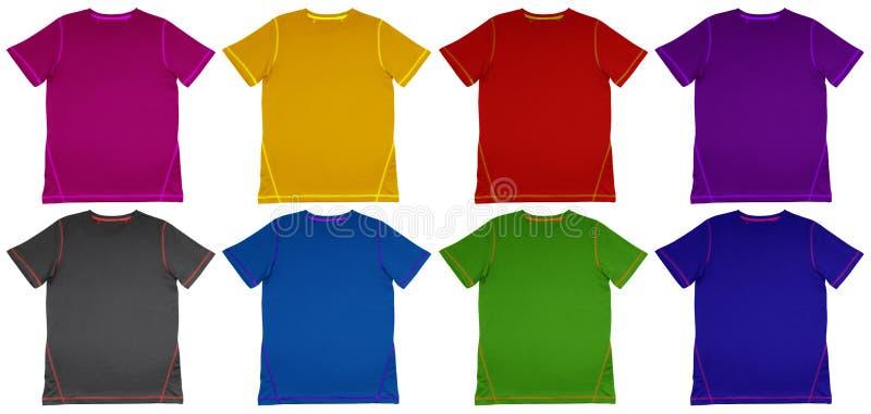 T-shirt colorido com emenda foto de stock