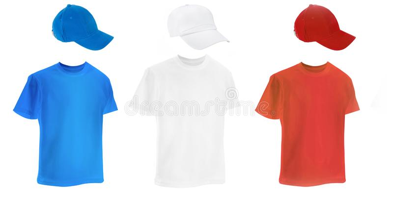 T-shirt coloridos diferentes fotos de stock