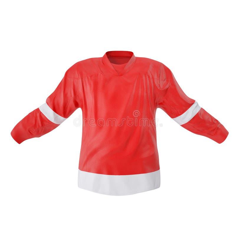 T-shirt d'hockey d'isolement sur le blanc Front View illustration 3D illustration libre de droits