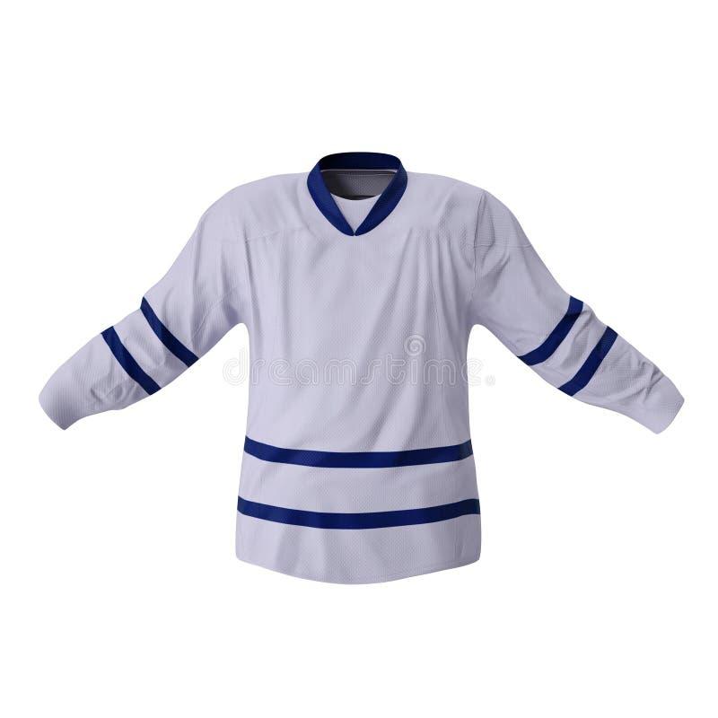 T-shirt d'hockey d'isolement sur le blanc Front View illustration 3D illustration stock
