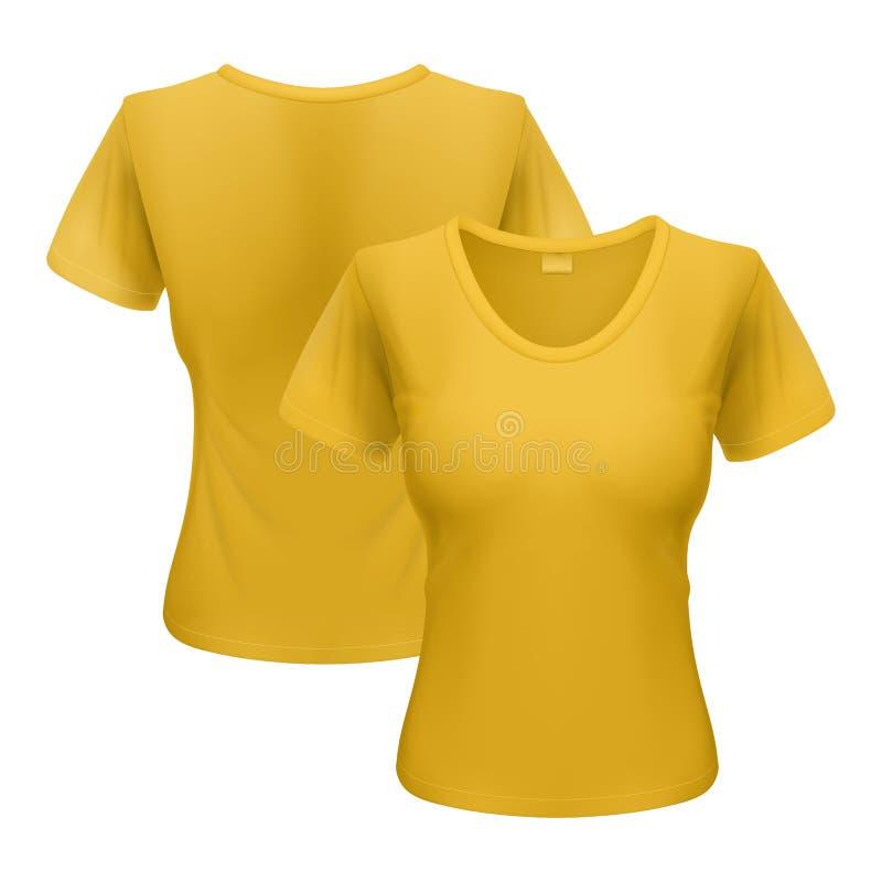 T-shirt da mulher ilustração stock